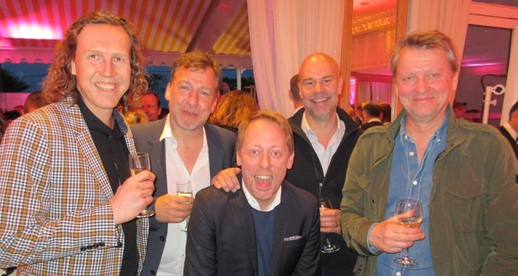 Eccho Rights will distribute MTG' Viaplay Original, Conspirancy of Silence: Daniel Lagersen, executive producer, Brain Academy (Sweden); Fredrik af Malborg, managing partner, Eccho Rights, Peter Settman, CEO and creative director, Brain Academy; Jakob Mejlhede, EVP, programming and content development, MTG, and Morten Mogensen, CEO, Nice Entertainment Group (Sweden)