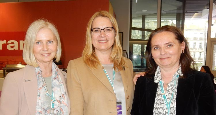 More from MIPdramas: Inara Kraukle, acquisition manager, AllMedia Baltics (Latvia), with Junita Budvytiene, head of acquisitions, LRT (Lithuania), and Ewa Dabrowska, manager of international film acquisitions, TVP (Poland)