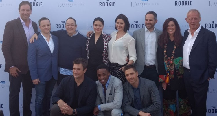 El screening de eOne: exhibió 'The Rookie', ante 500 buyers mainstream. Aquí el talento de la nueva serie policial, protagonizada por Nathan Fillion y seleccionada por la U.S. network ABC