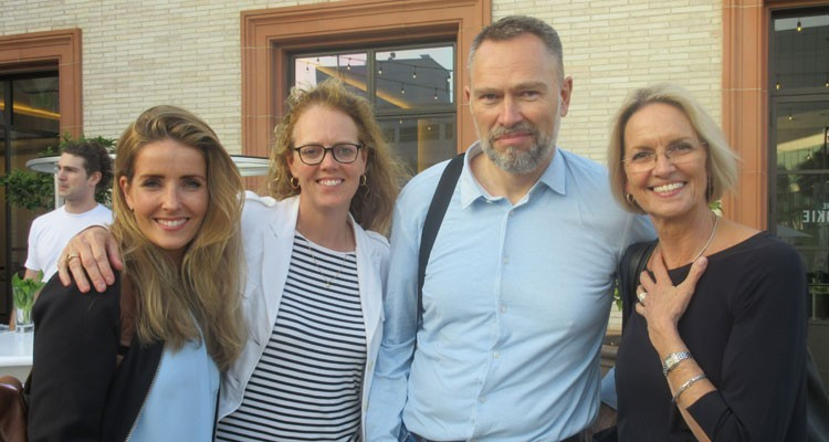 Buyers de RTL Holanda en eOne: Ellen von den Berghe, acquisitions, Paula van Echtelt, manager content acquisition, Wim ter Laak, SVP of programming strategy, e Inge Lubsen, senior buyer