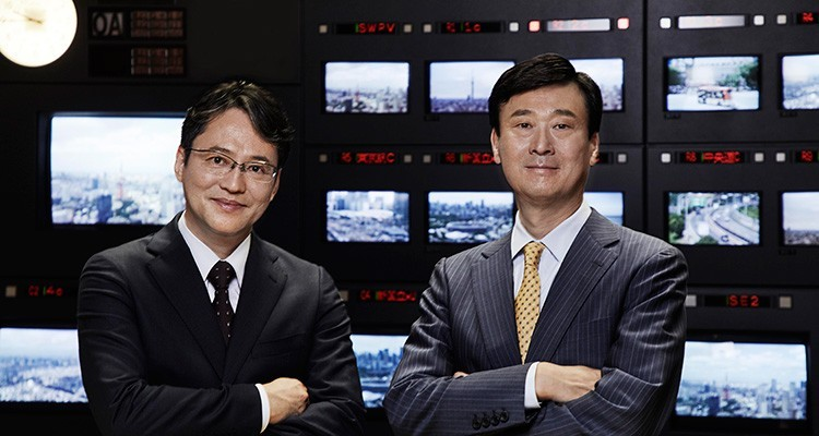 Atsushi Sogo, new President, IBD, and Kenichi Hirose, board director and operating officer, Nippon TV