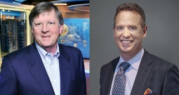 Eddie Edwards, de CommScope, y Bruce McClelland, de Arris