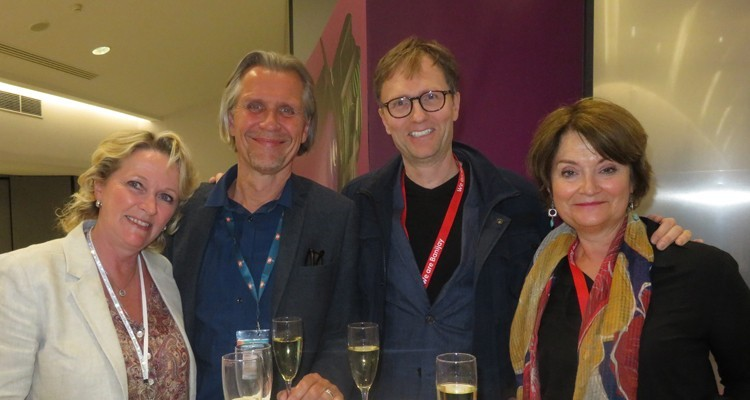Nordic buyers at MIPDrama: Johanna Salmela, international programme acquisitions at Yle (Finland), Lars Erik Nielsen, acquisitions executive at TV2 (Denmark), and ole Stolberg, VP, and Caroline Torrance, head of scripted, both from Banijay