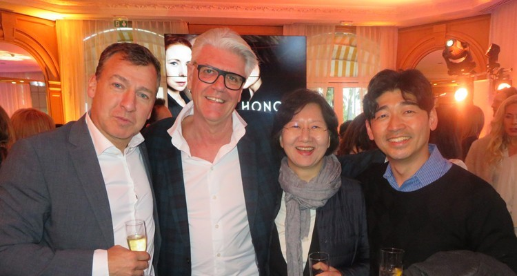 Eccho Rights (Sweden) and CJ EM (Korea) under the same roof: Fredrik af Malmborg and Nicola Söderlund, managing partners at Eccho Rights, with Chul Yeon (Kate) Kim, SVP, and Jangho Seo, general manager of the content business division, CJEM