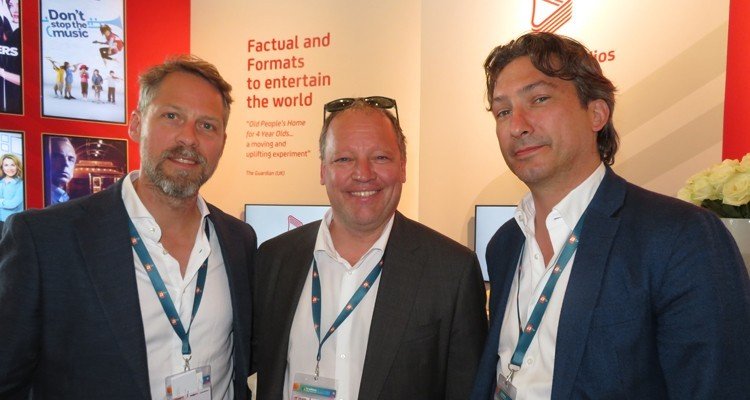 The Red Arrow cocktail: Mark Land, head of producers, RTL Germany, Mathias Settele, general director of Markiza (Slovakia), and Robin von der Leyen, producer at Constantin Television, Germany