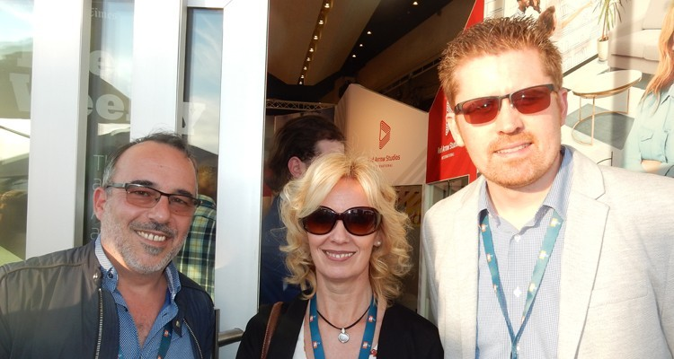 Hungarian buyers at Red Arrow: Janos Wisinger, CEO at the production company Iko, Andrea Zaras, head of content management, and Gabor Fischer, programming director, both from TV2