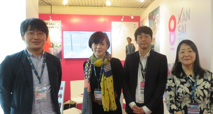 Kansai TV, Japanese FTA broadcaster: Miho Okada, general manager (center) with Taiki Onoe, senior manager, Kazuhiro Sato and Keiko Sakamoto, global managers. The company is taking international market with its dramas series