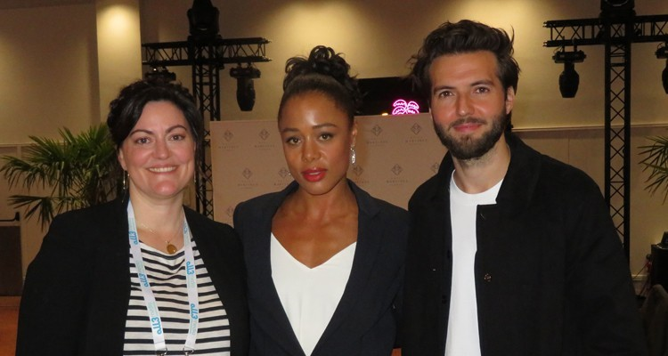 "all3media's ""The Feed"" participated at CanneSeries with very good reception of the participants: Channing Powell, creator and producer at all3media, with talent Nina Toussaint-White and Guy Burnet"
