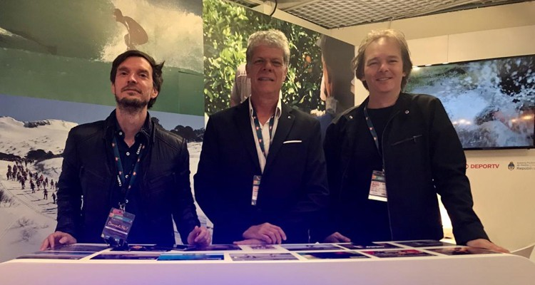 Contar, the Argentine public OTT, keeps looking for key partnerships to grow internationally: Lucas Martin, executive director, Ronnie Amendolara, international business, and Mariano Kon, VP co-productions and sales
