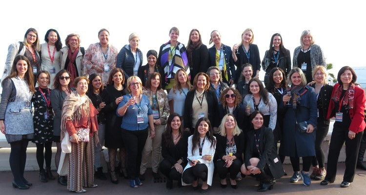 The Worldwide Audiovisual Woman Association (WAWA) at MIPTV. The organization has 400 associated women's from all over the world in the content industry