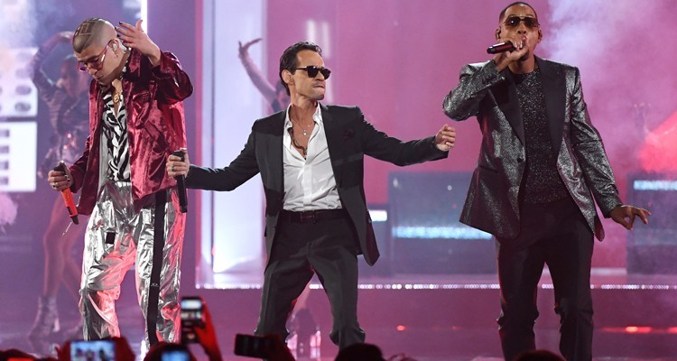 Bad Bunny, Marc Anthony and Will Smith at 19th Annual Latin Grammy Awards