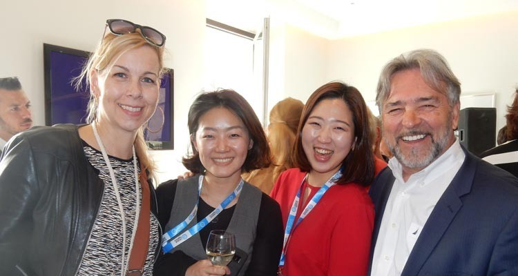 FRAPA board members meeting II: Jee Hee Lee, general manager, and Minju Kim, global business manager, both from Korean broadcaster JTBC (centre), with Sylvia Kocman, director business development, and Michel Rodrigue, CEO, both from The Format People (USA)