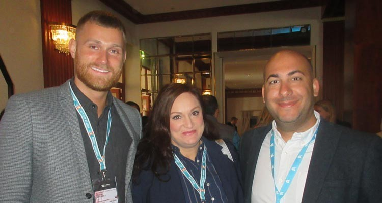 Buyers from UK TV at CCTV Lunch: Daniel Thomas, acquisition manager, Emma Sparks, acquisitions and coproductions, and Charlie Charalambous, acquisition manager