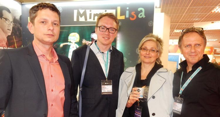 The Ceská Televize cocktail: Leos Morávek from Ceská with Ivan Krasko, content research at Markiza (Slovakia), Alexandra Bezpalcova, acquisitions manager, Nova TV (Czech Republic), and Ivan Hronec, CEO from Film Europe