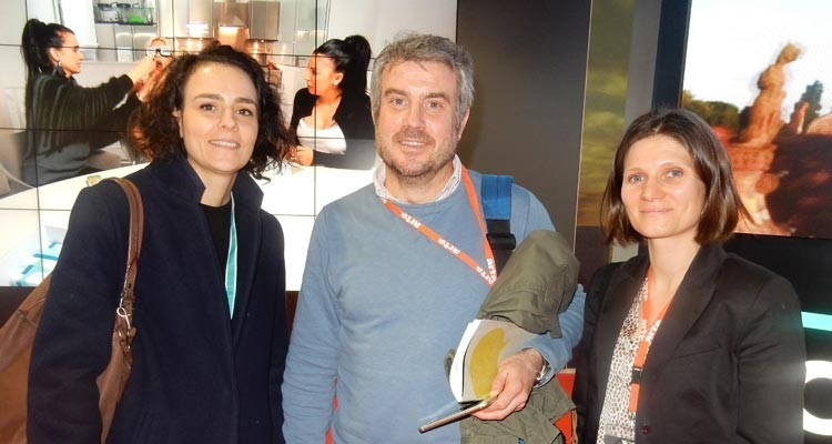 Buyers from Arte (France) at The Palais: Ophélie Beaurepaire, coproductions and acquisitions executive, Alexandre Puel, deputy head of drama, and Virginie Padilla, acquisitions executive, dram