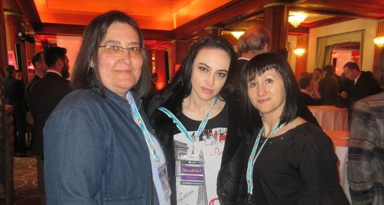 National TV (Romania) at the Beta Brunch: Larisa Mohut, acquisition analyst, Anamaria Popa. Acquisition manager, and Diana Stanciu, acquisition analyst